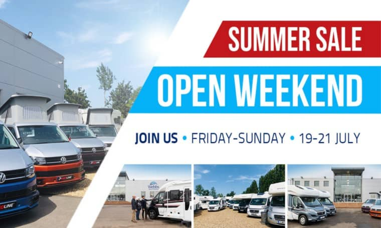 Summer sale at Webbs Motor Caravans