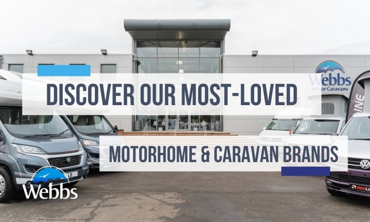 Find your favourite caravan & motorhome brands at Webbs