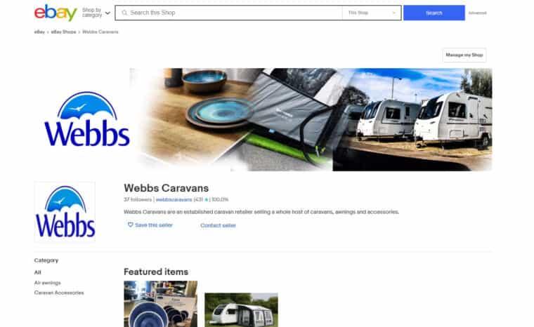 Caravan Accessories Parts Webbs Caravans Salisbury Uk
