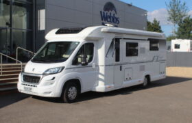 Front exterior of Bailey Autograph 79-4. Webbs New Motorhome.