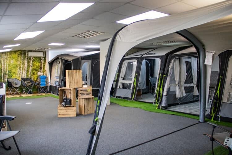 Caravan awnings for sale at Webbs Motor Caravans