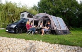 Campervan awning at Webbs Motor Caravans